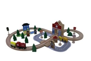 Hot Christams Gift 50PCS Wooden Train Set Toy for Kids and Children pictures & photos