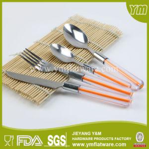 24 PCS Set up-Market Plastic Handle Cutlery pictures & photos