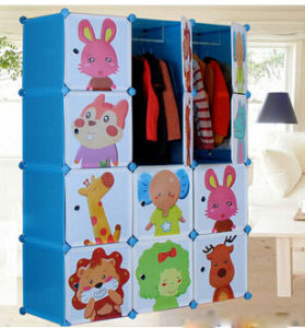 12 Cubes Free Standing Bedroom Cheap Foldable Kids Wardrobe pictures & photos