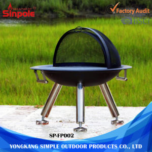 Roud Outdoor BBQ Stainless Steel Fire Pits with Metal Cover pictures & photos