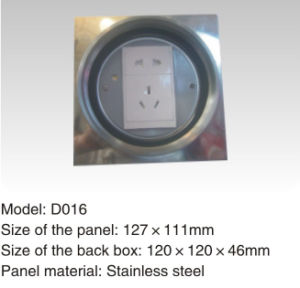 New Model Stainless Steel Round Shape Floor Socket Box pictures & photos