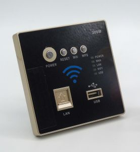Cheap Wall-in Panel WiFi Wireless Router with 300Mbps pictures & photos