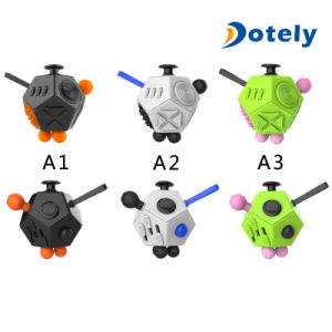 Best Quality Plastic 12 Sided Stress Release Fidget Cube in Stock pictures & photos