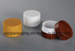 100g Cosmetic Jar Wooden Appearance Jar pictures & photos