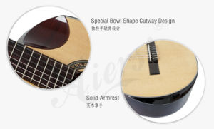 Aiersi Brand Handmade Concert Classical Guitar with High Quality (SC02AJCN) pictures & photos