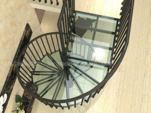 Glass Spiral Staircase Australia Standard Aluminum Stairs with Aluminum Railing pictures & photos