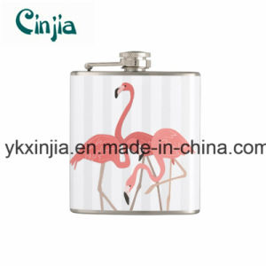 Kitchen Summer Flamingo Trio and Stripes Hip Flask for Xjt7 pictures & photos