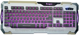 Mechanical Feeling Backlight Keyboard USB Backlighting Keyboard pictures & photos