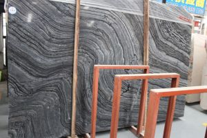 Asian Cheap Price and High Quality Black Serpeggiante Marble Slabs Supplier pictures & photos