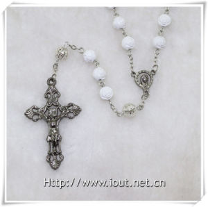 Wholesale Latest Design Men′s Religious Plastic Bead Rosary Necklace (IO-cr351) pictures & photos