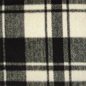 Herringbone, Checked Fleece Fabric, for Jacket, Garment Fabric, Textile Fabric, Clothing