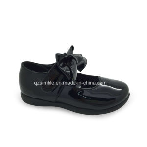 Lovely Flat Kids Dress Shoes with Ratent PU Upper pictures & photos