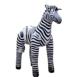 China Customized PVC Animal Inflatable Zebra Toy for Kids pictures & photos