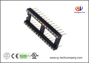 2.54mm IC Socket with SMT H=3.0 L=7.43 Row of Pitch 15.24mm Connector pictures & photos