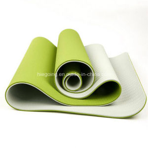 OEM Eco-Friendly Fitness Yoga Mat Non-Slip 2 Layer TPE Yoga Mat pictures & photos