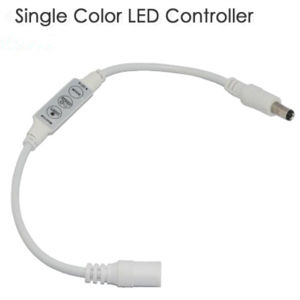 High Quality Mini Single Color 3 Key DC Plug Wire LED Dimmer pictures & photos