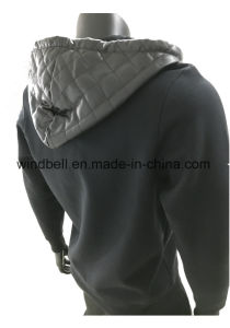 Fashionable Thick Brushed Cotton PU Hoody for Men pictures & photos