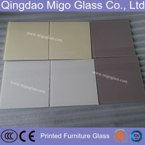 Colored Tempered Back Printing Splashback Glass in Kitchen pictures & photos