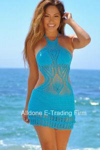 Sexy Women Hand Crochet Beachwear Swimwear Swimsuit Bikini Cover up pictures & photos