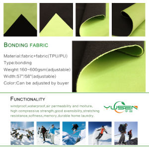 4 Way Stretch Fabric Bonded Fabric with Fleece for Soft Shell pictures & photos