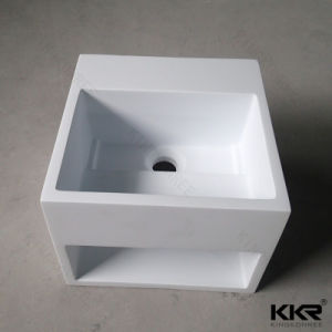 Modern Solid Surface Bathroom Vessel Sink for Hotel (B1706163) pictures & photos