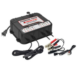 12 Volt 2 AMP Battery Charger with 2 USB Ports - 4 Banks pictures & photos
