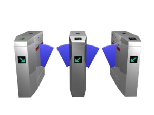 Stainless Steel Flap Turnstile Acess Control System with Infrared Detaction pictures & photos