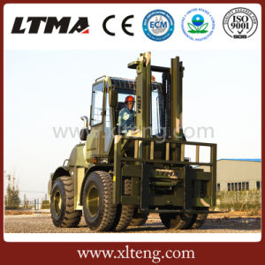 Diesel Forklift Truck Sales 5 Ton China All Terrain Forklift pictures & photos