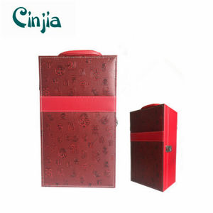 Double Red Leather Wine Box for Gift pictures & photos