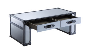 Classic Stainless Steel with Black Leather Sides Coffee Table, Tea Tablertk-90 pictures & photos