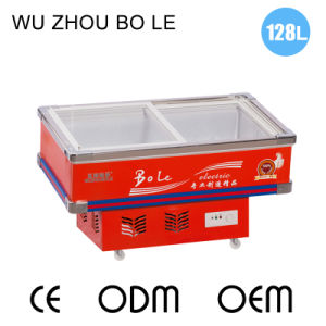 2016 Star Products Single Temperature Bevel Glass Door Seafood Freezer