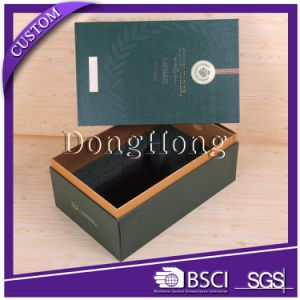 Unique Handle Carrying Hard Cardboard Wine Packing Box pictures & photos