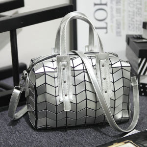 Fashion Silver PU Designer Handbag (A0118)