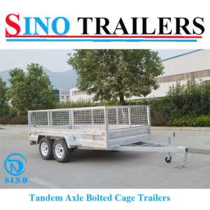 12X6 Dual Axle Box Trailers with Mesh Cage pictures & photos