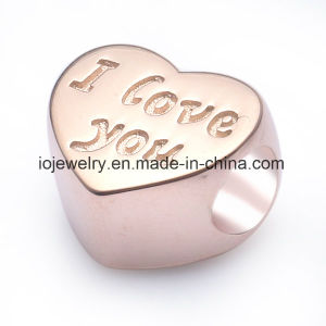 Silver Charm Custom Engraved Metal Logo Bead pictures & photos