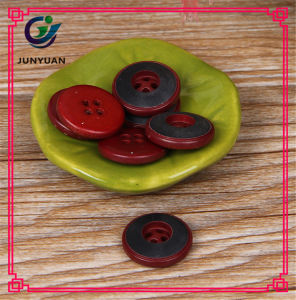 Red Color 4holes Round Resin Coat Button pictures & photos