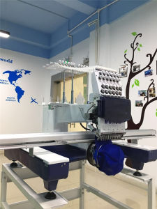 12 & 15 Needle Flat Embroidery Machine One Head Embroidery Machine Computerized Wy1201cll pictures & photos