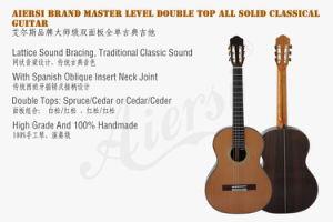 Double Top High End Handmade Vintage Solid Classical Guitar pictures & photos
