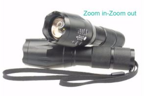 2000 Lumen Handheld Flashlight LED Xml T6 Water Resistant Camping Torch Adjustable Focus Zoom Tactical Aluminum Flashlight pictures & photos