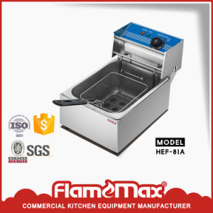 1 Tank 1 Basket on Sale China Electric Chip Fryer (HEF-81) pictures & photos