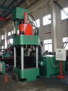 Iron Filing Hydraulic Briquetting Press Metal Scrap Briquette Machine-- (SBJ-500) pictures & photos