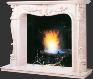 White Marble Fireplace, Marble Fireplace Surround Fireplace Mantel pictures & photos