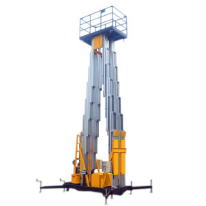 Mast Aerial Work Platform for Outdoor Construction (Max Height 14m) pictures & photos