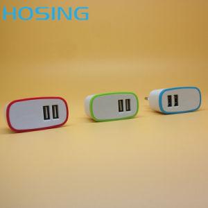Single/ Dual USB 5V 2.1A Black/ White/OEM Color Special Design EU/Us/UK Plug for Universal Mobile Phone pictures & photos