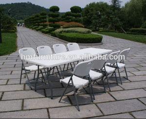 6FT Plastic Folding in Half Table Wholesale Price