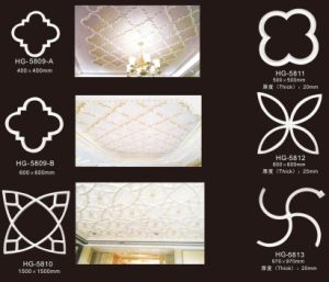 Polyurethane Foam Decorative PU Material Decorative Ornaments for Home Ceiling Decoration pictures & photos