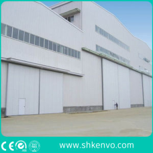 Industrial Manual or Electric Automatic Thermal Insulated Sliding Gate with Small Wicket Door pictures & photos