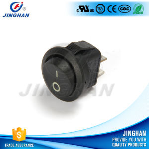 Jinghan Kcd1-204 on-off Mini Round Rocker Switch Dia 15mm pictures & photos