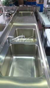 Europe Style Stainless Steel Restaurant Kitchen Sink pictures & photos