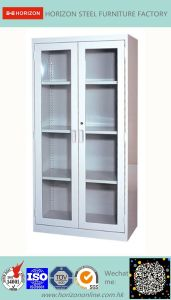 Steel High Storage Filing Cabinet Office Furniture with Steel Upper & Lower Double Swinging Cabinet/File Cabinet pictures & photos
